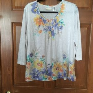 Alfred Dunner  Top Size 1X  I'm good condition